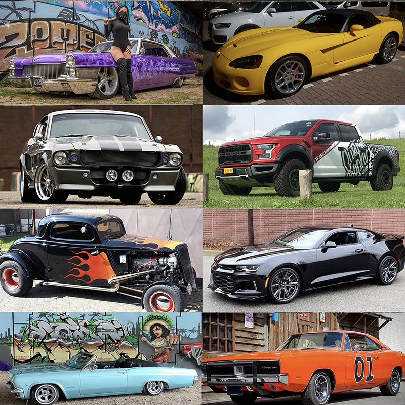 100% AMERICAN CARS!