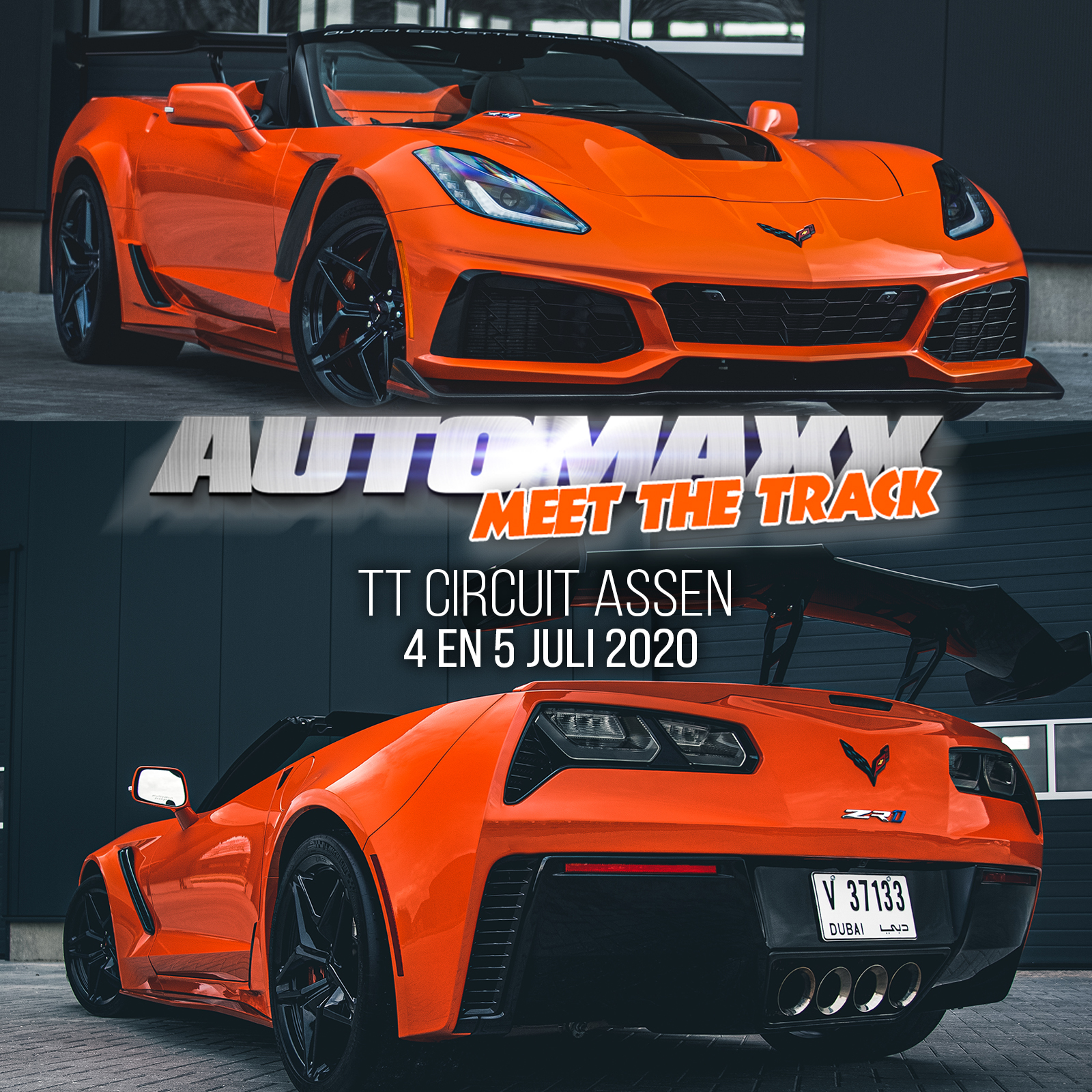 CORVETTE ZR1 CABRIO TE ZIEN OP AUTOMAXX MEET THE TRACK!
