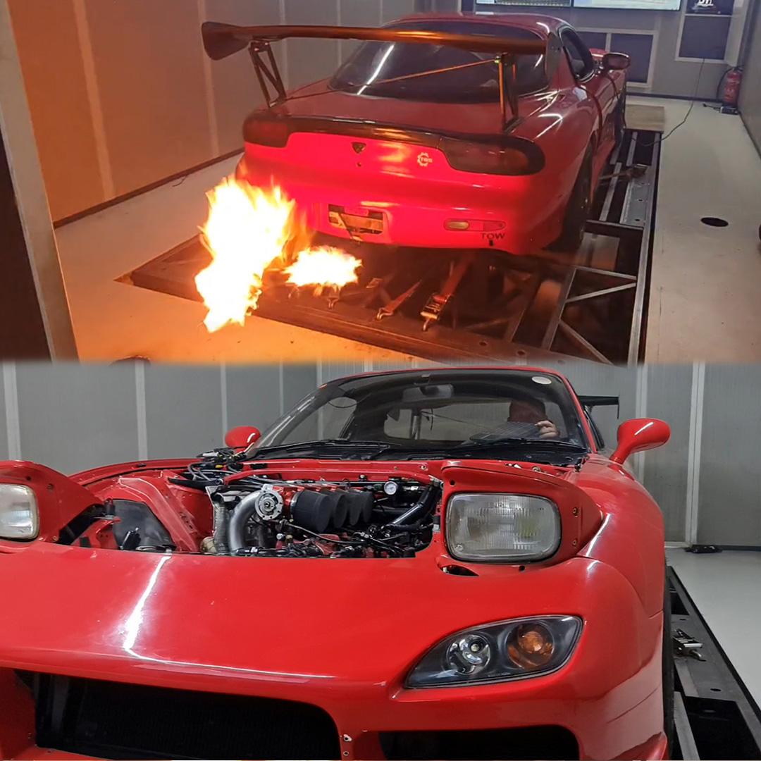 RX7 met F1 geluid van JT Performance aanwezig