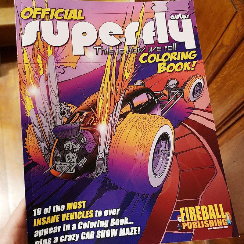 Custom Car Coloring Book