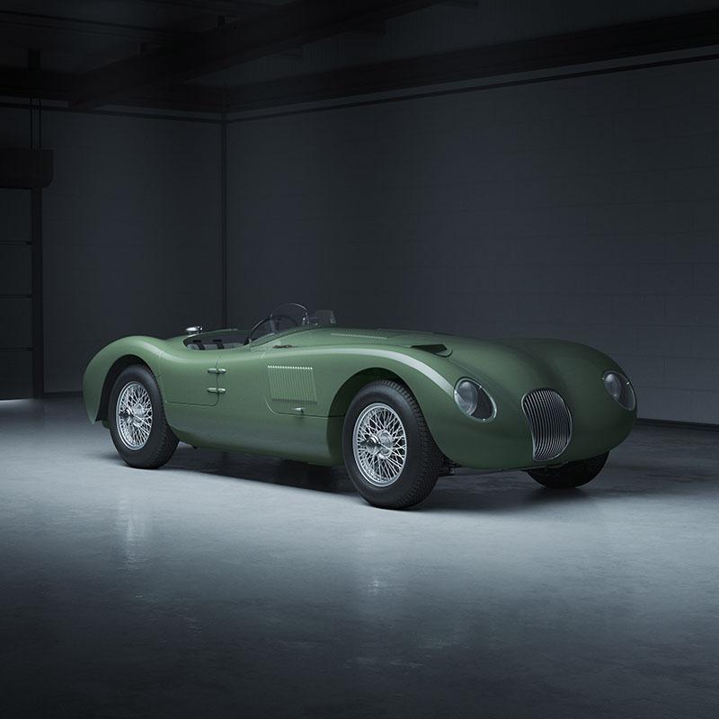 Jaguar C-Type Nieuwste Classic Continuation-model