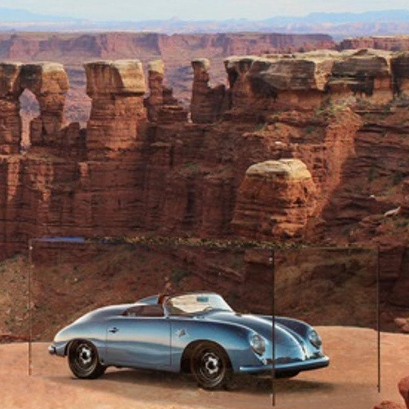 Porsche tentoonstelling in de natuur