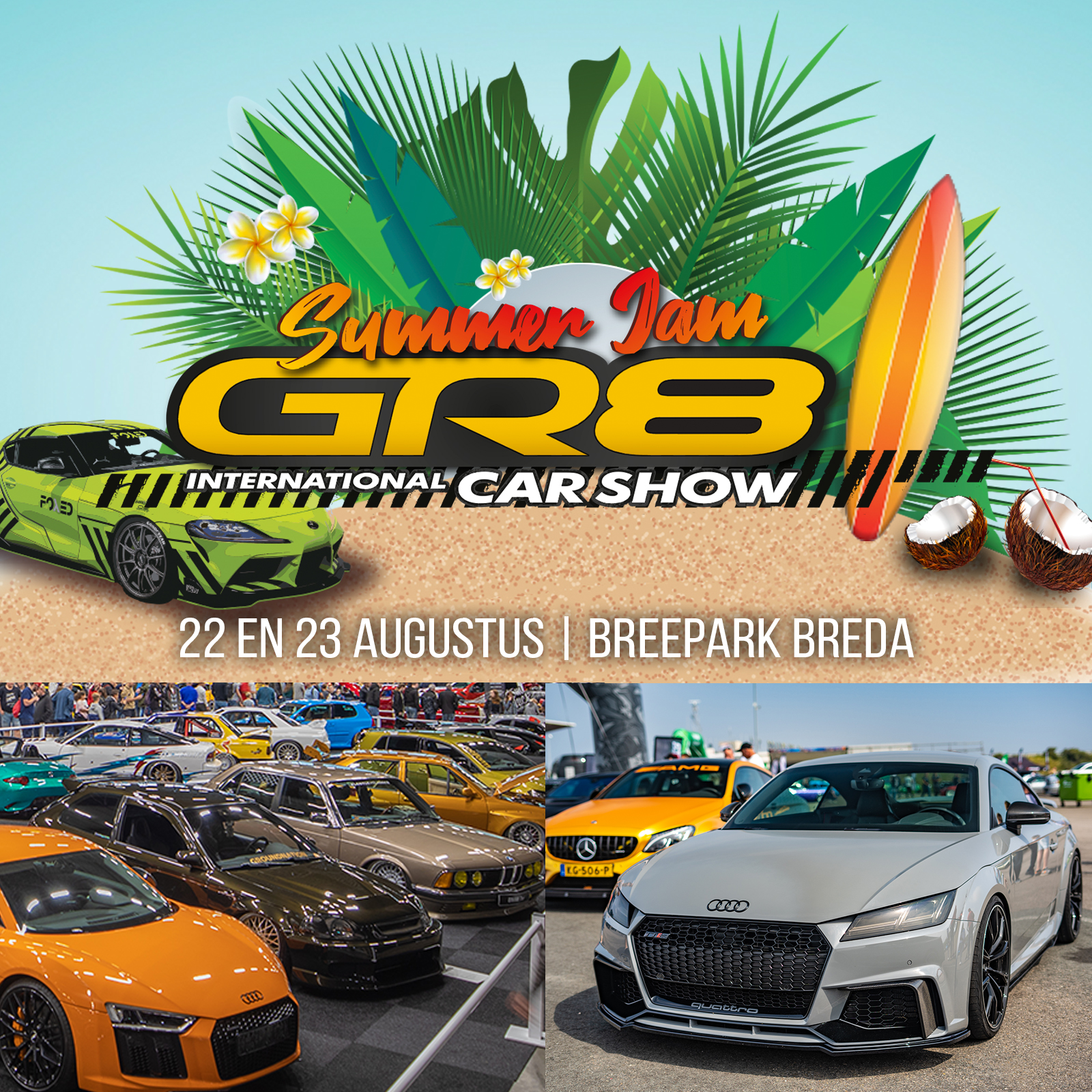 NIEUW IN NL! GR8 Summer Jam - International Car Show!