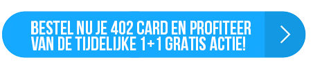 402 card tijdelijk 1+1 gratis. 20+ automotive events